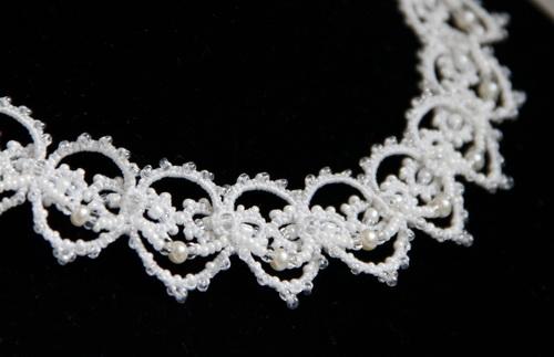 Свадебная бижутерия ручной работы с жемчугом для невесты - кружево - фото