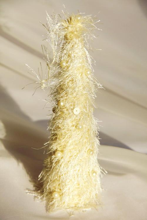 Новогодняя ёлка ручной работы с серёжками