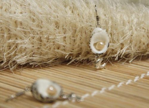 Женские серьги ручной работы с жемчугом