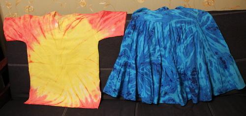 Сибори или Как мы красили рубашку - фото и работа Дарины Никоновой